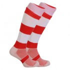 Red & White Rugby Socks