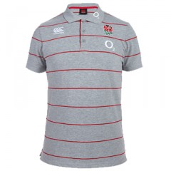 England Stripe Grey Polo Shirt